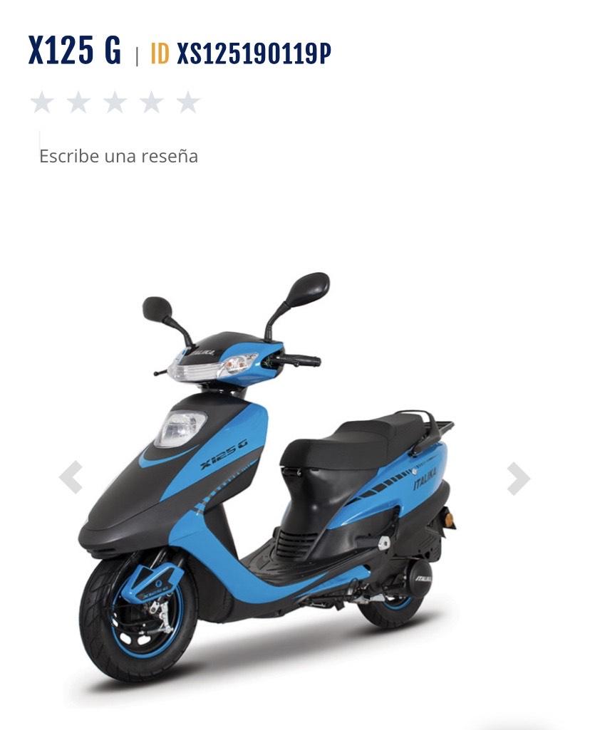 Italika: motoneta Italika X125 G envió gratis