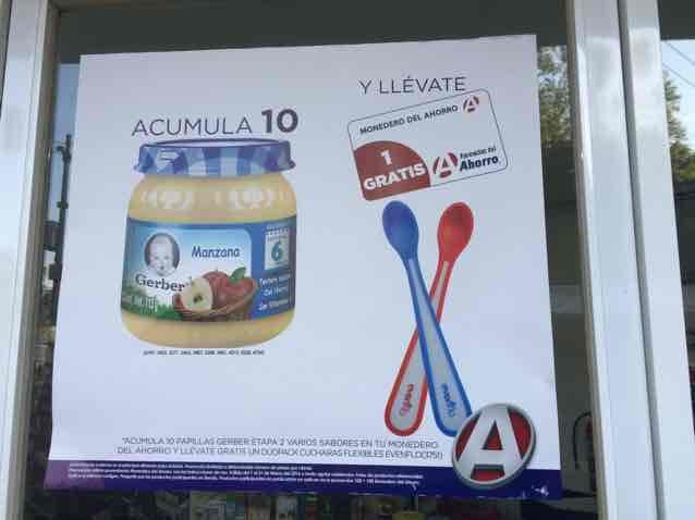 Farmacia del Ahorro: acumula la compra de 10 potitos gerber y llevate gratis 2 cucharas