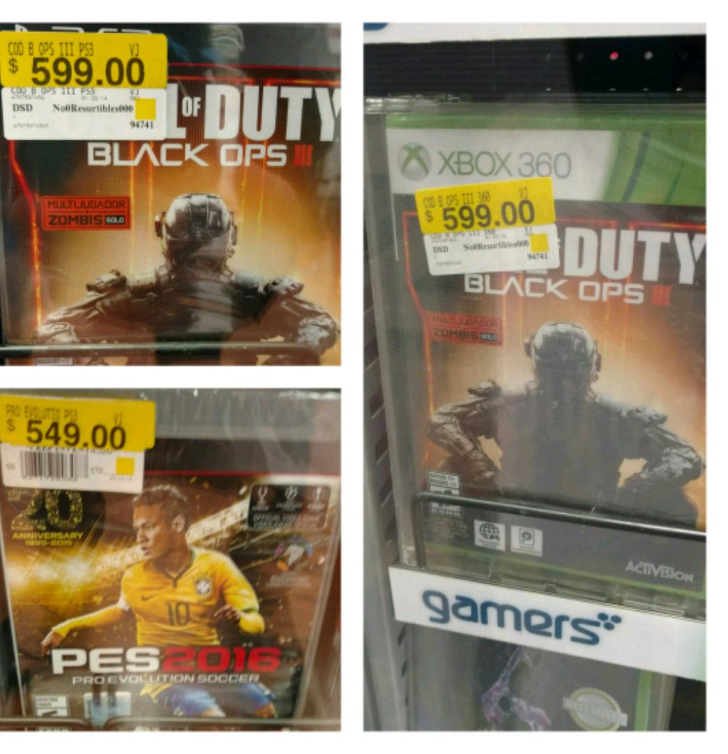 Walmart: juegos para Xbox 360 y PS3, CoD Black ops 3 a $599, PES 2016 a $549 y más
