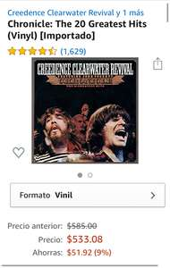 Amazon: Vinilo de Creedence Clearwater Revival - 20 Greatest Hits