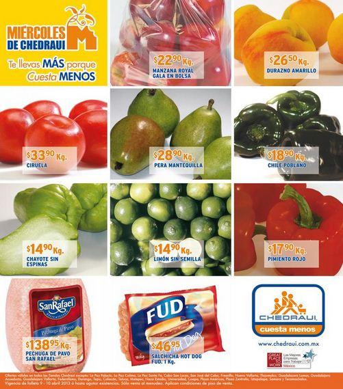 Ofertas de frutas y verduras Chedraui abril 10: melón $6.90 y más