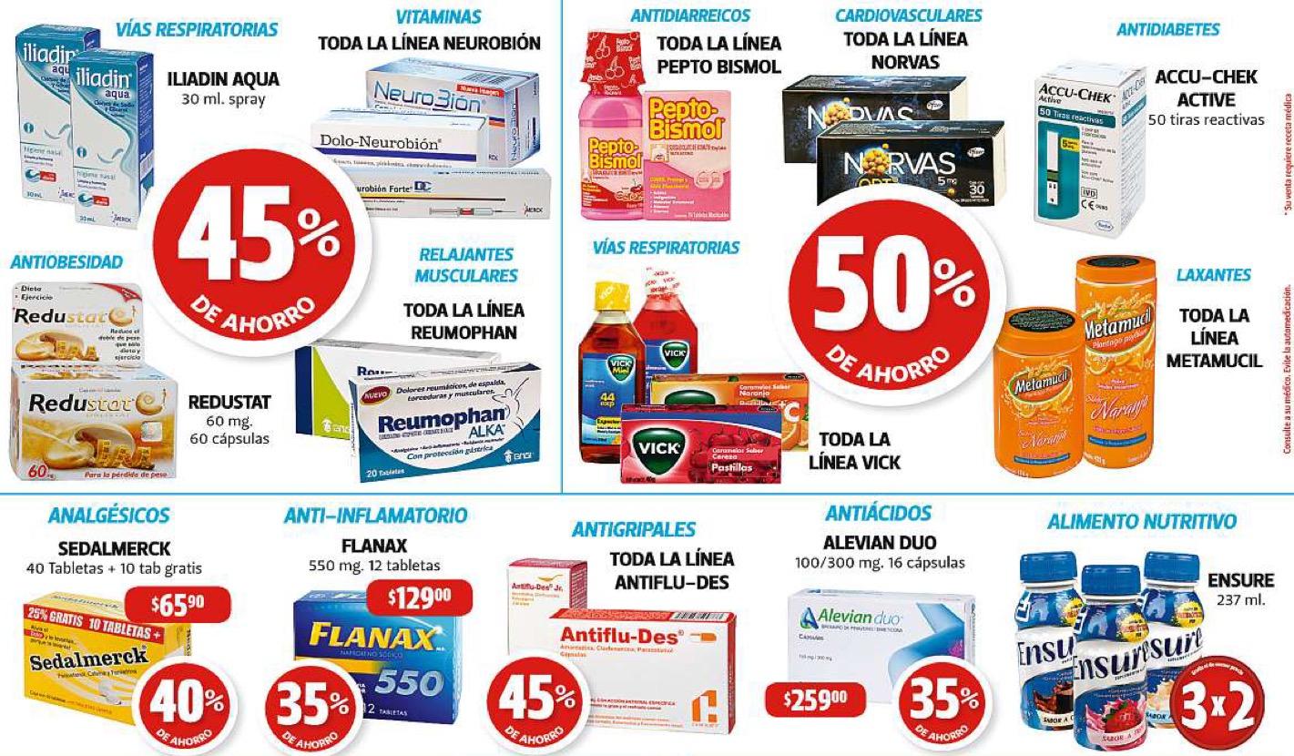 Farmacias Guadalajara: 50% de descuento en Pepto Bismol, Vick y más