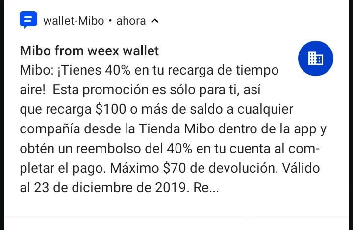 Wallet Mibo: 40% Descuento en recargas