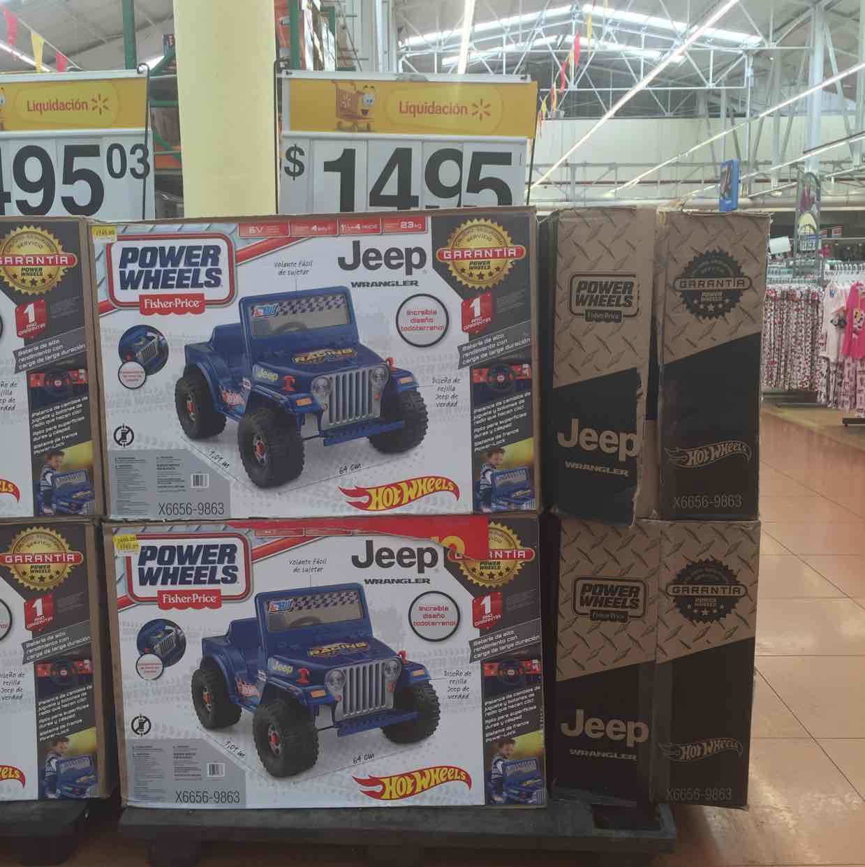 Walmart: Carro eléctrico Power Wheels Jeep de Hot Wheels a $1,495, casita Step 2 Neat & Tidy a $1,595