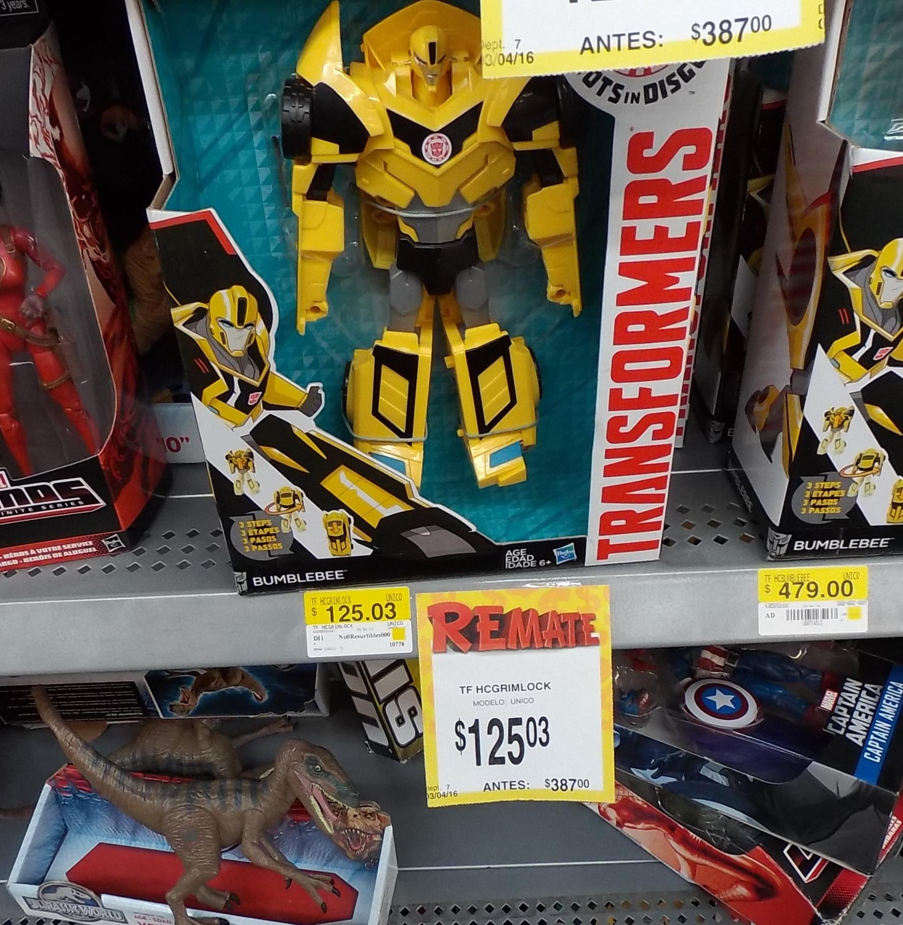 Bodega Aurrerá Villahermosa: descuento en juguetes, Transformers Bumblebee de $387 a $125.03