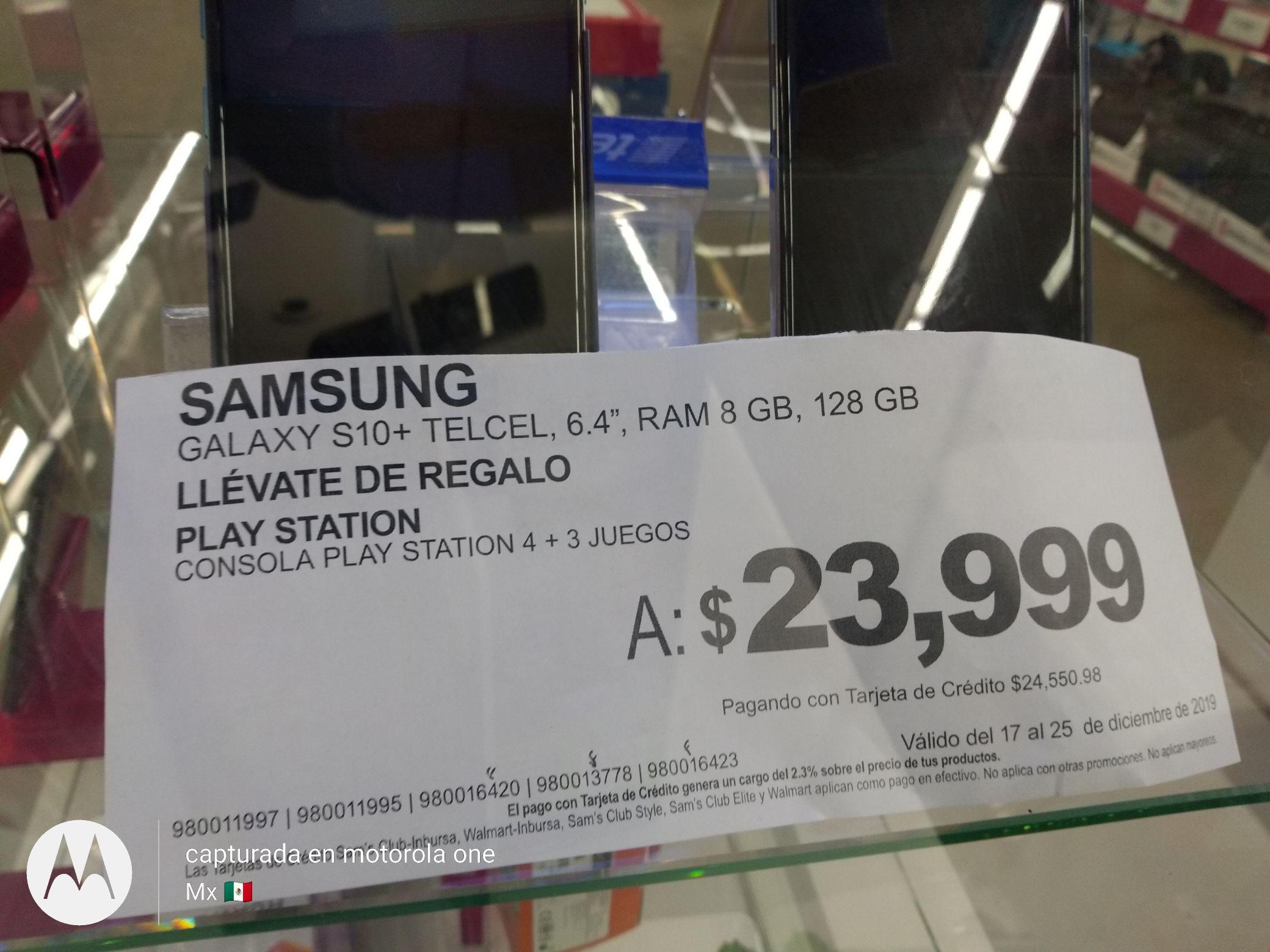 Sam's Club: Samsung S10+ y PS4