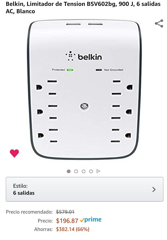 Amazon: Belkin multicontacto