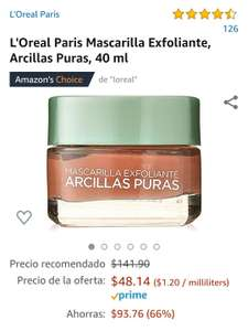 Amazon: Mascarilla Exfoliante L'Oreal Paris
