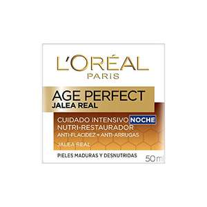 Amazon: L'Oreal Paris Crema Antiarrugas de Noche Age Perfect con Jalea Real 50 ml