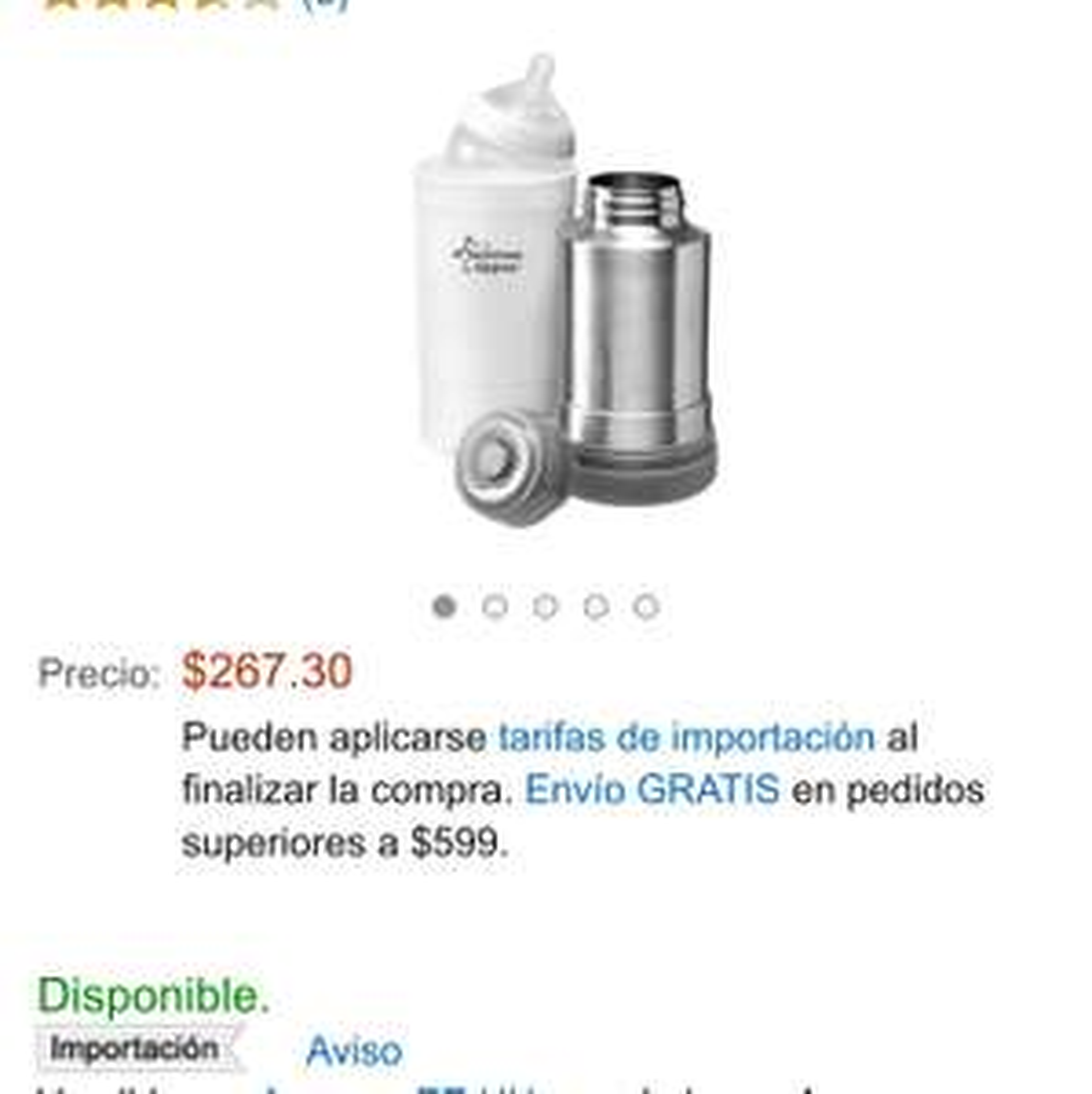 Amazon: termo de viaje Tomme Tipee a $267