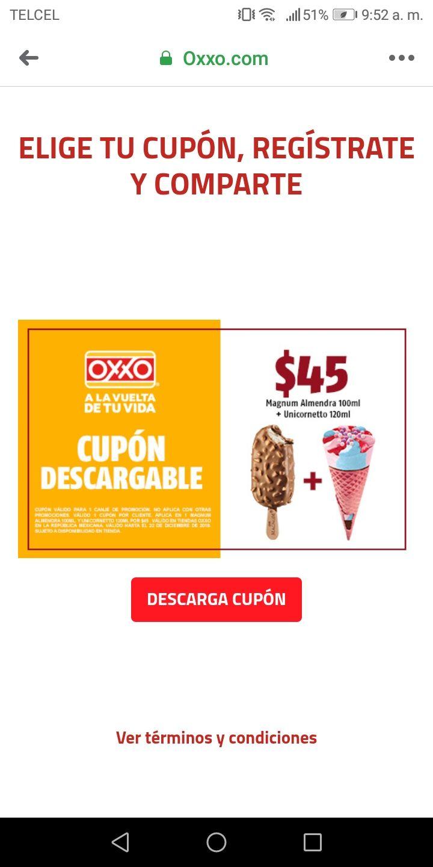 Mágnum y unicornetto por $45 en Oxxo