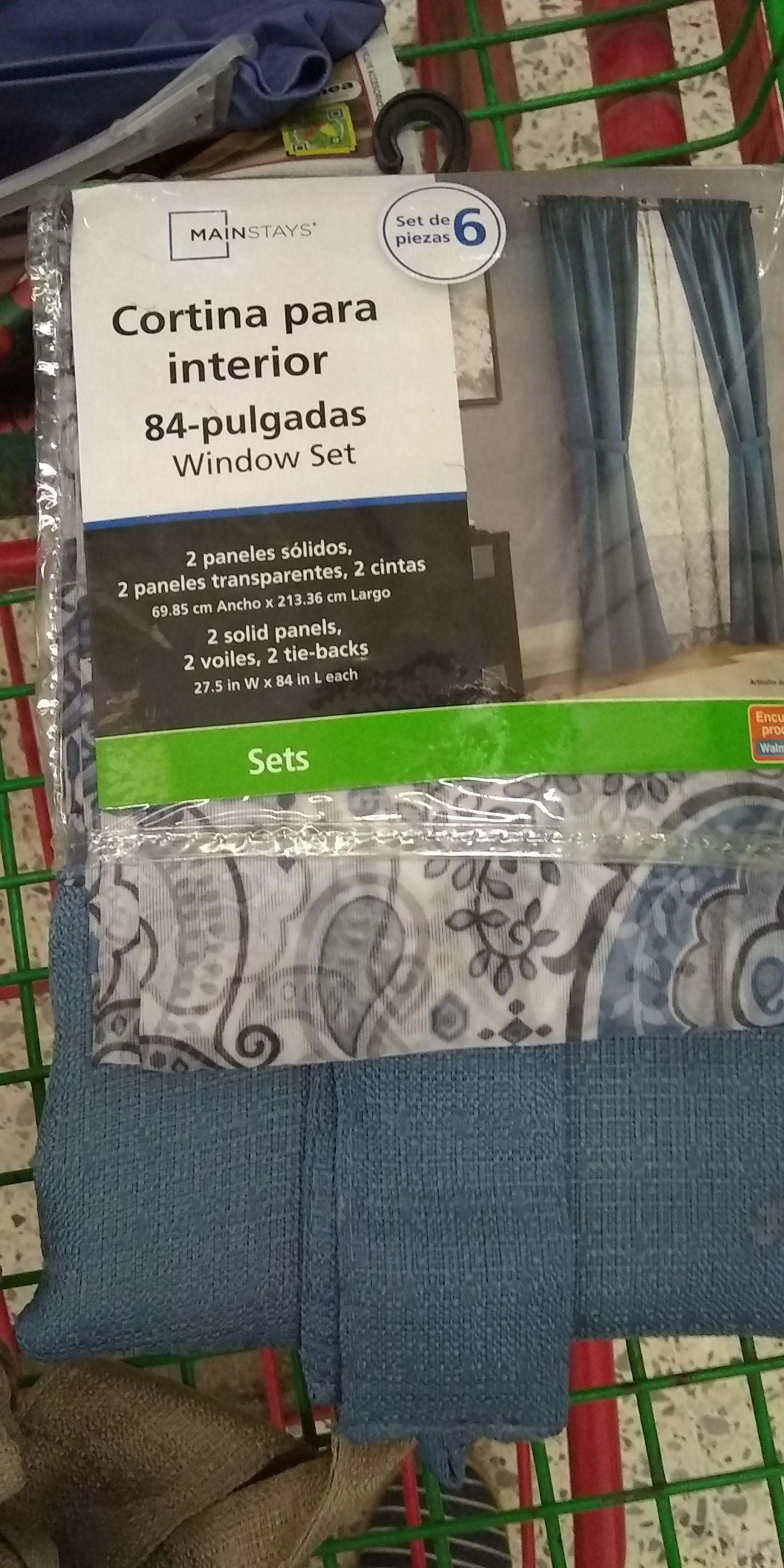 Bodega Aurrerá: Set de cortinas 6 piezas