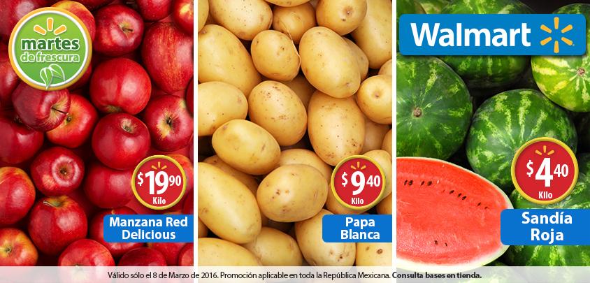 Martes de frescura en Walmart marzo 8: sandía $4.40 el kilo