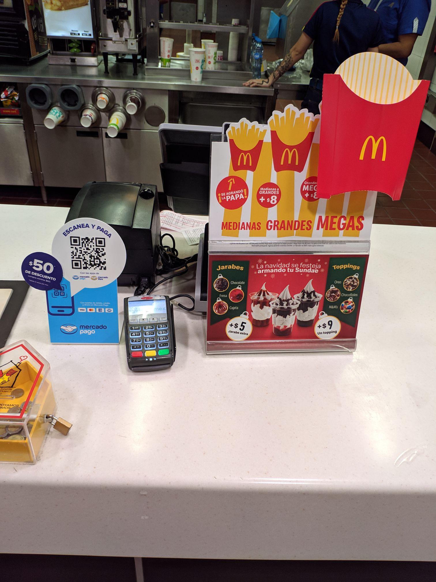 $50 de descuento pagado con mercado pago en McDonald's