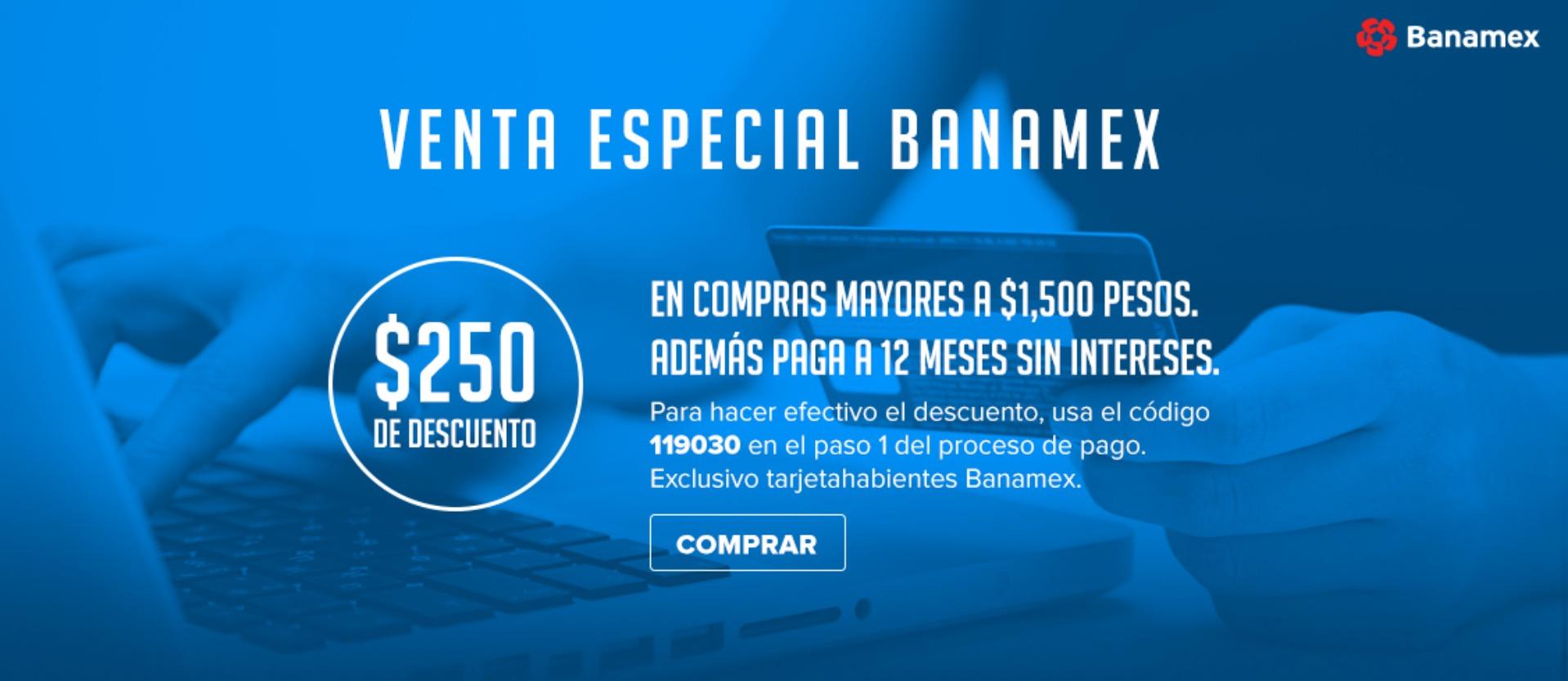 Innovasport: cupón de $250 en compras mayores de $1,500 + hasta 12 msi con Banamex
