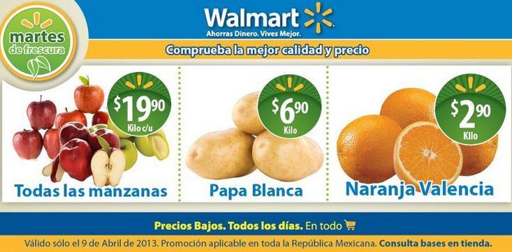Martes de frescura en Walmart abril 9: naranja $2.90 y más