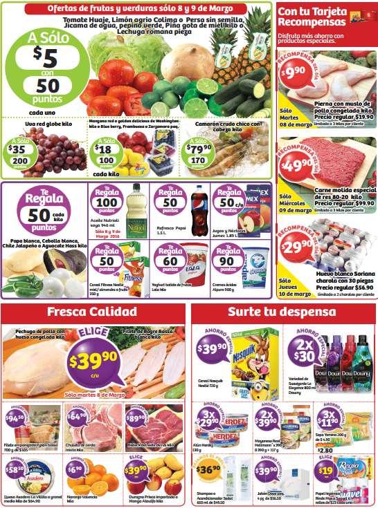 Soriana: ofertas de frutas, carnes y más del 8 al 10 de marzo