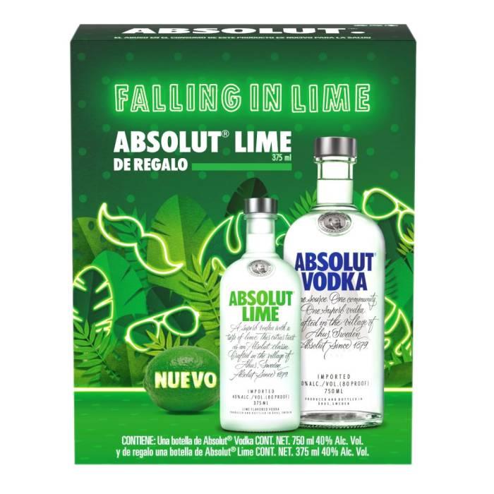 Vodka Absolut 750 ml + 1 vodka Absolut lime de 375 ml SUPERAMA