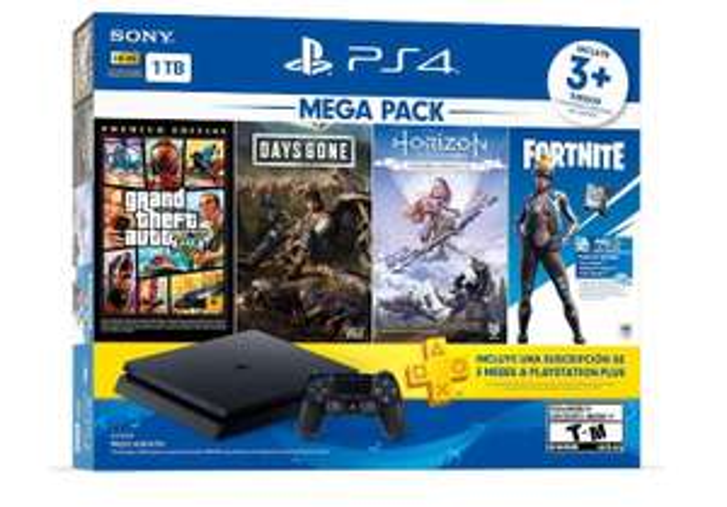 Amazon: Ps4 Mega Pack 1TB APLICA PRIME