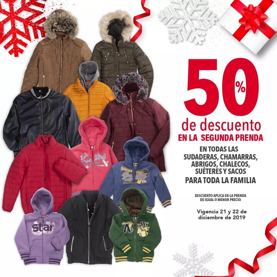 Woolworth: 50% de descuento en la segunda prenda en todas las sudaderas, chamarras, abrigos, chalecos, suéteres y sacos para toda la familia