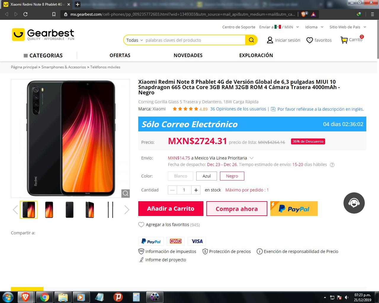 Gearbest: Xiaomi Redmi Note 8