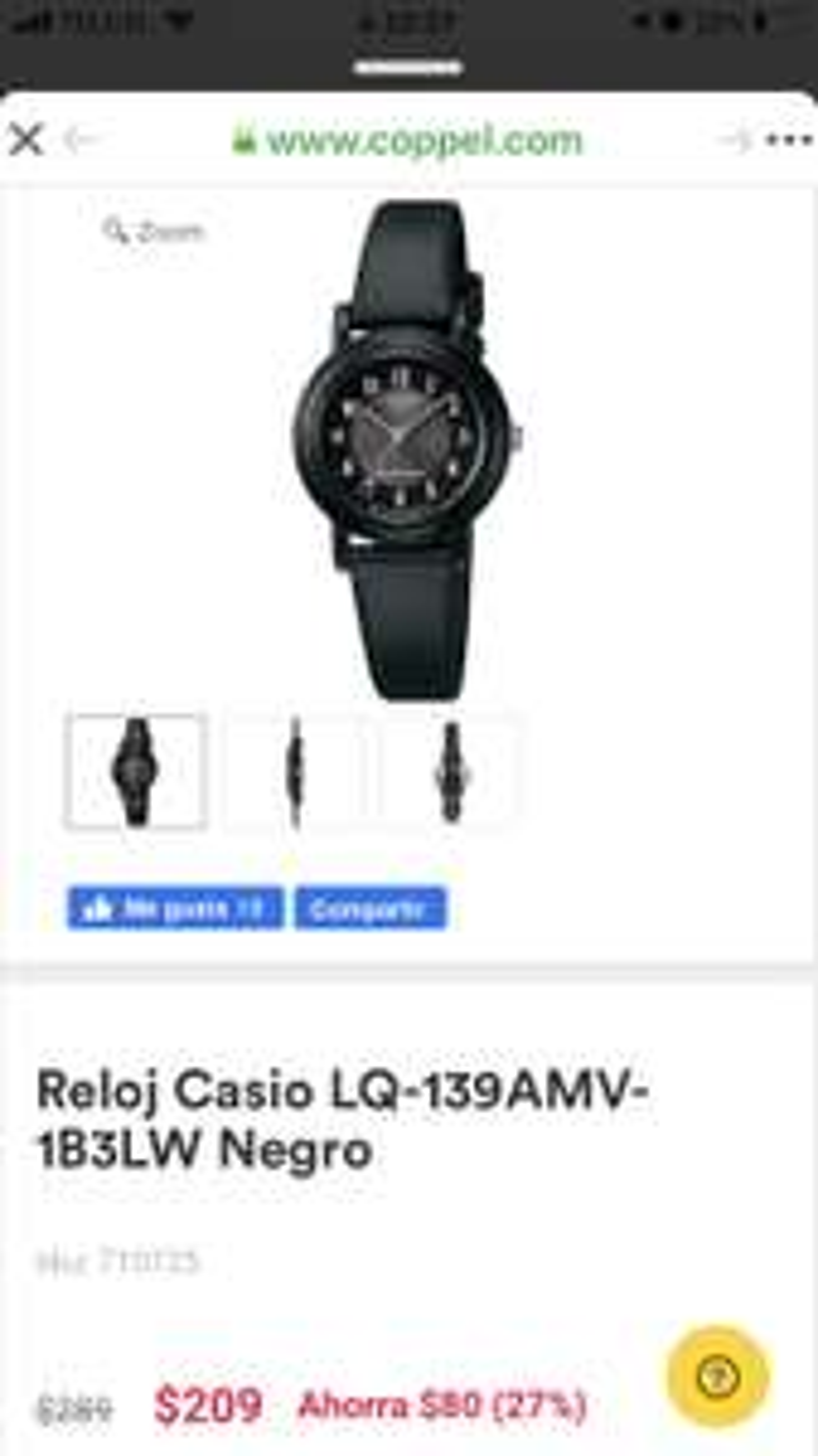 Coppel: Reloj Casio para Dama