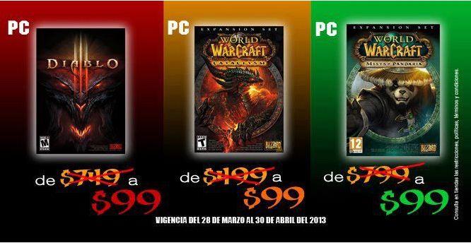 Blockbuster: Diablo III y extensions para Warcraft a $99