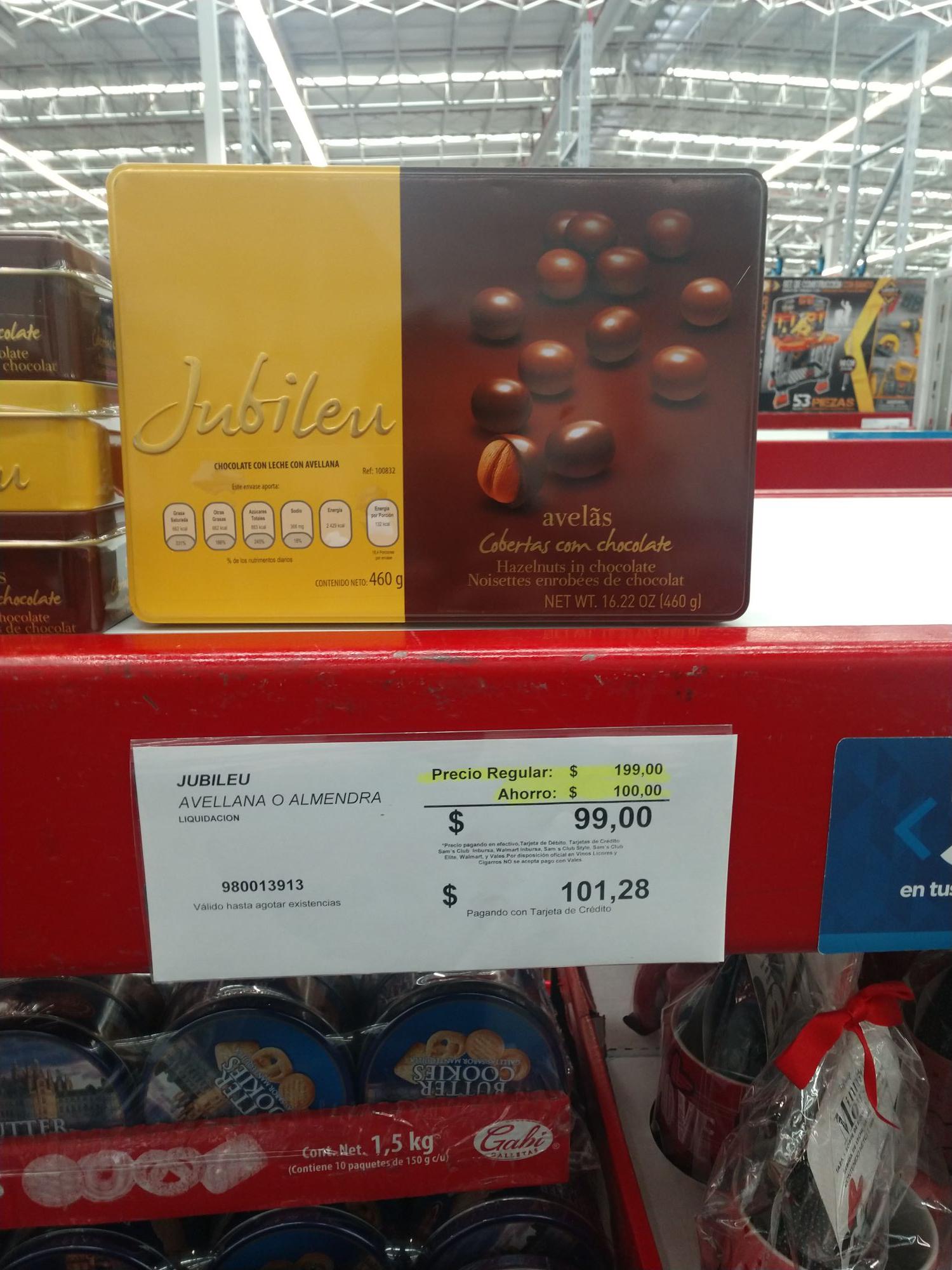 Sam's Club: Almendras con chocolate ideal para regalo de Navidad