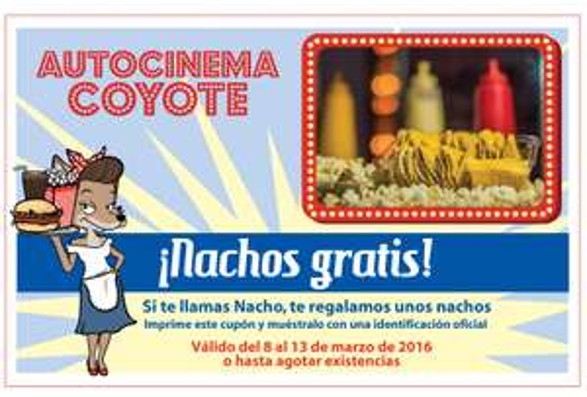 Autocinema Coyote: Nachos Gratis