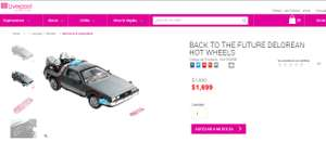 Liverpool: BACK TO THE FUTURE DELOREAN HOT WHEELS a $1,699