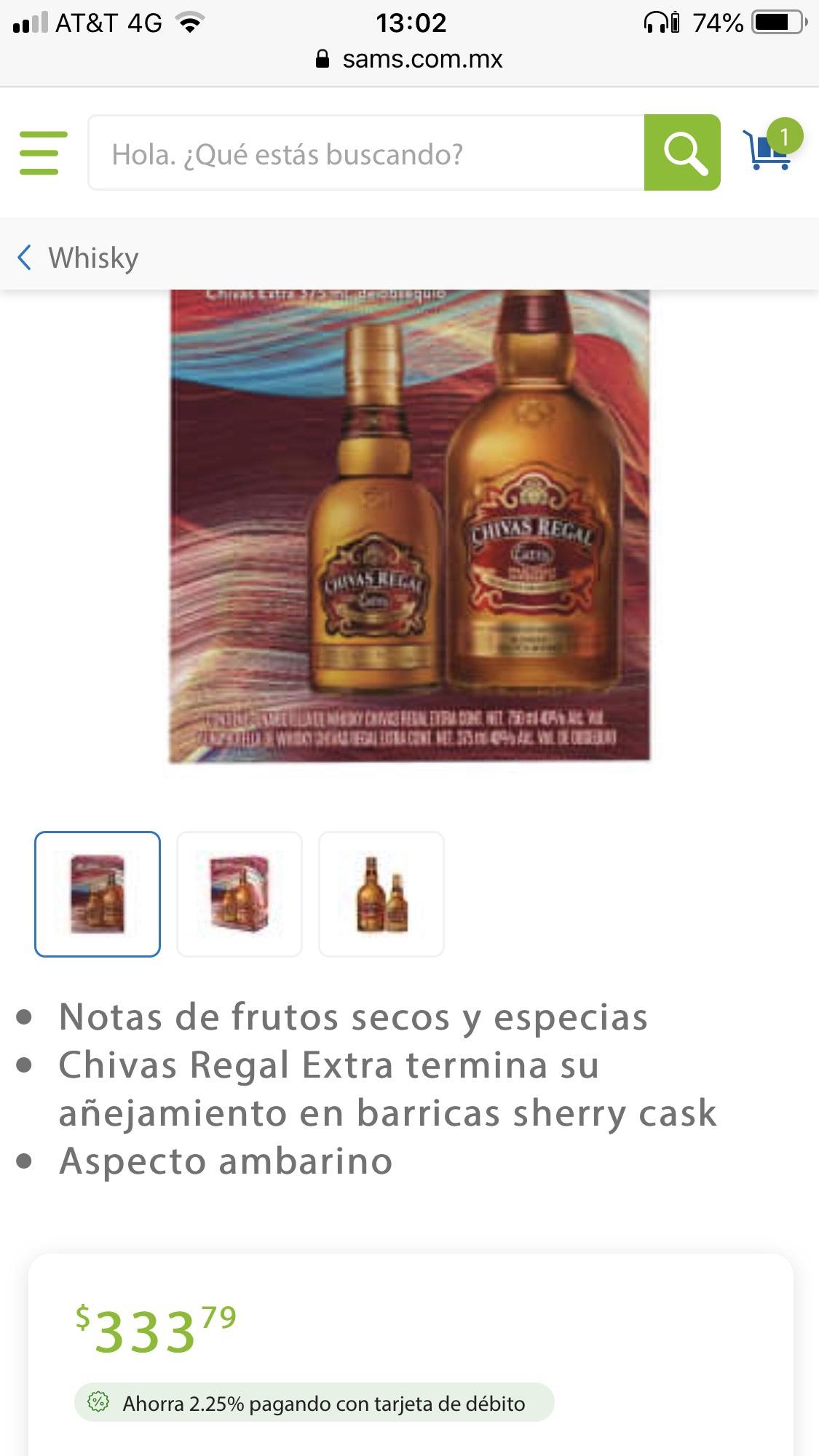 Sam's Club: Chivas Regal Extra 750ml + Chivas Extra 375ml