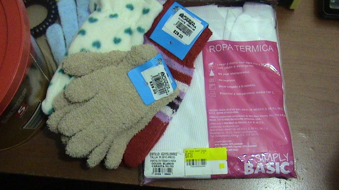 Bodega Aurrerá: ropa térmica  y guantes