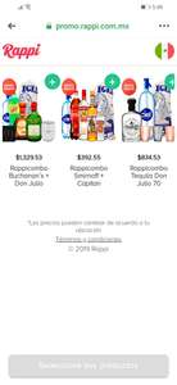 Rappi: Rappicombos de bebederos desde 393