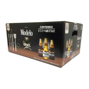 Superama: Cerveza Modelo 12 botellas de 355 ml c/u + 1 kit de utensilios