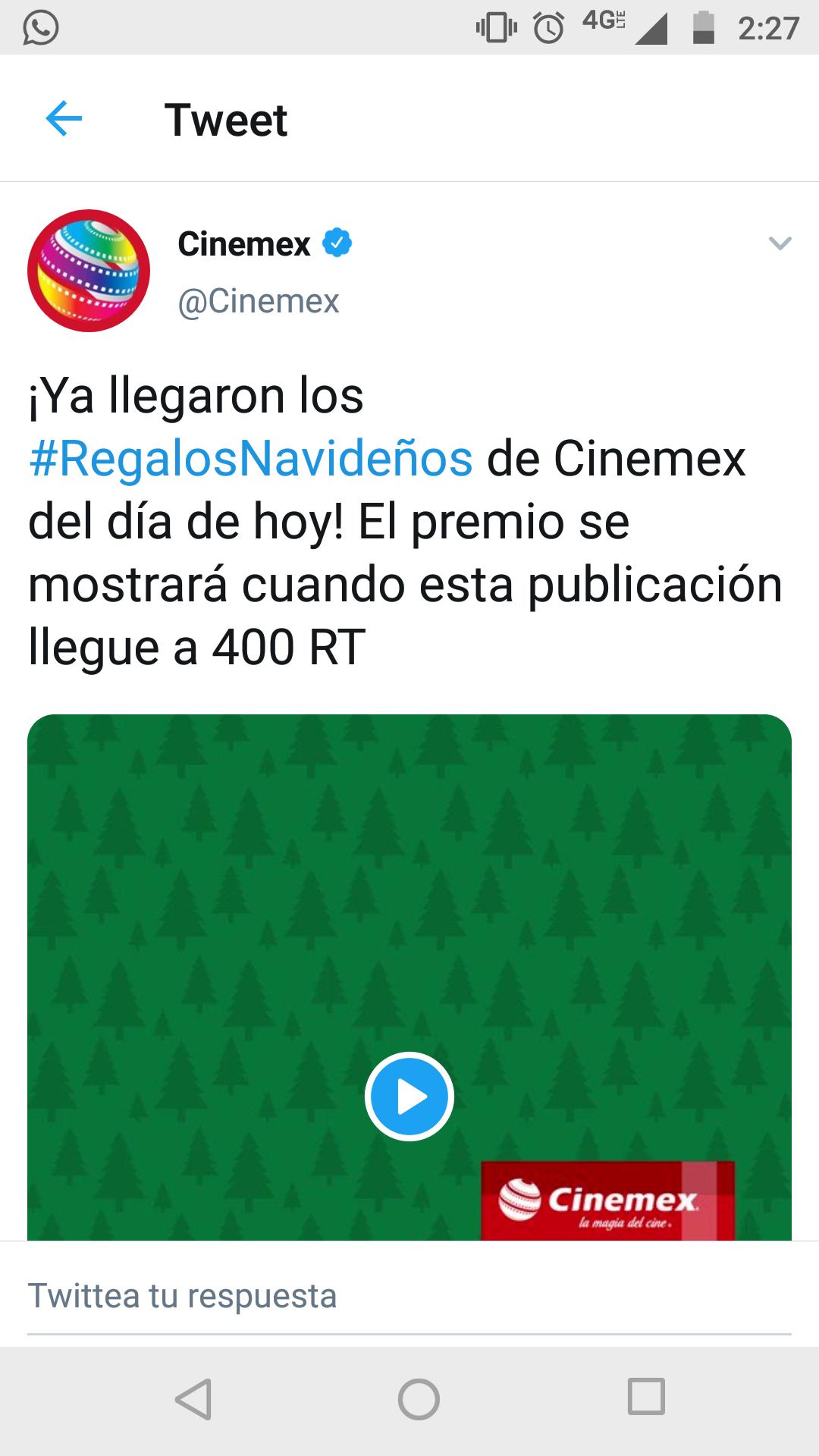 2da llamada Palomino Cinemex