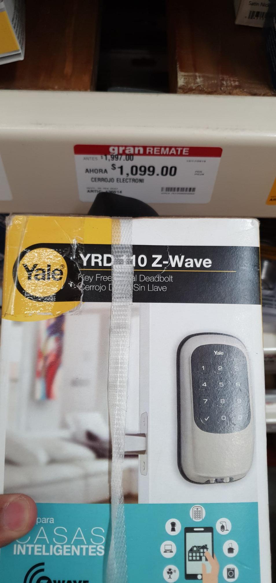Home Depot SLP: Cerradura Inteligente Yale YRD 110 Z-Wave