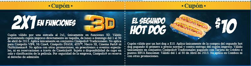 Cinépolis: 2x1 en películas 3D y más promociones con Bancomer