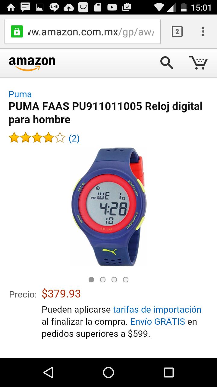 Amazon: Reloj puma  digital a $378