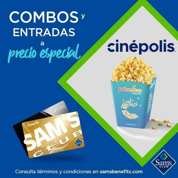 Sam's Club: Precios Especiales Cinepolis Entradas y combos