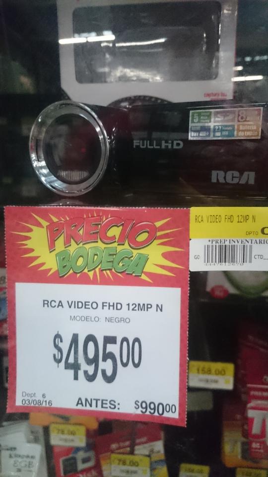 Bodega Aurrerá: videocámara RCA Full HD 16 MP