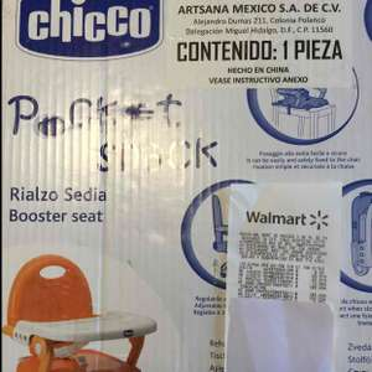 Walmart Cuitlahuac: Chicco poket snack (periquera plegable) a $150.02