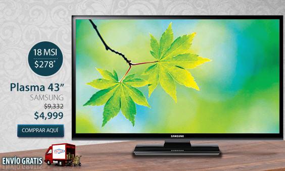 """Famsa: pantalla plasma Samsung 43"""" a $4,999 y 18 meses sin intereses"""