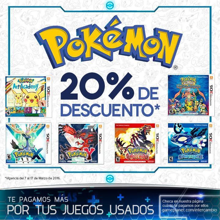 Gameplanet: Juegos de Pokémon en descuento y Póster gratis de Pokémon en CDMX