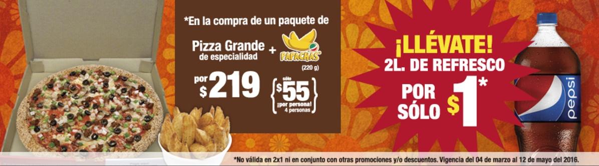 Benedetti's: Pizza Grande de especialidad, Orden de Papachas  y Refresco de 2 L.