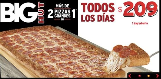 Pizza Hut: Big Hut a $209 Todos los días
