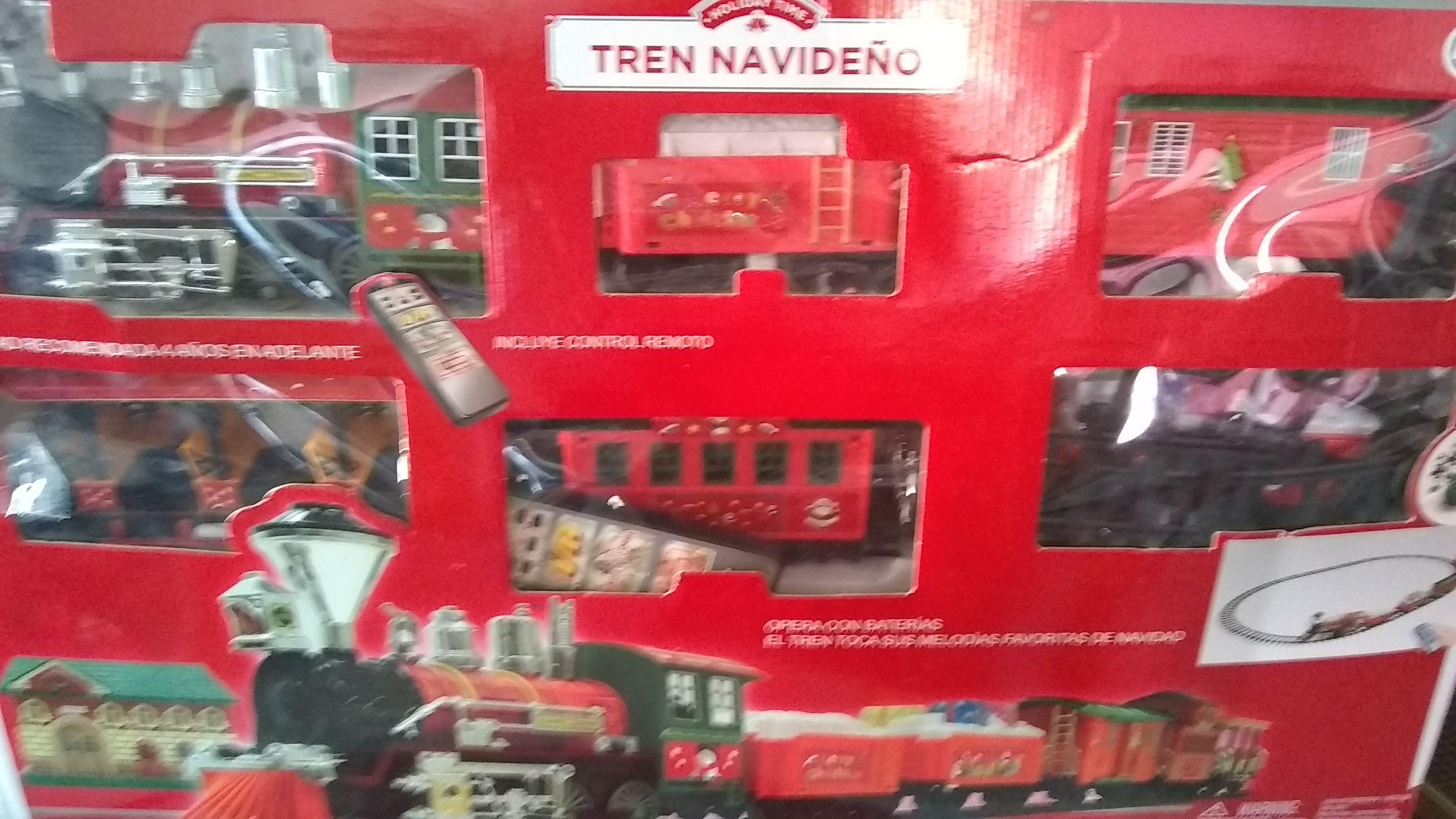Walmart: Tren navideño, frazada y luces