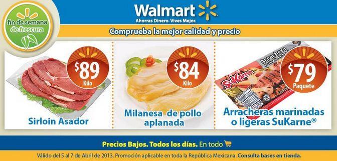 Ofertas de carnes en Walmart y Chedraui abril 5