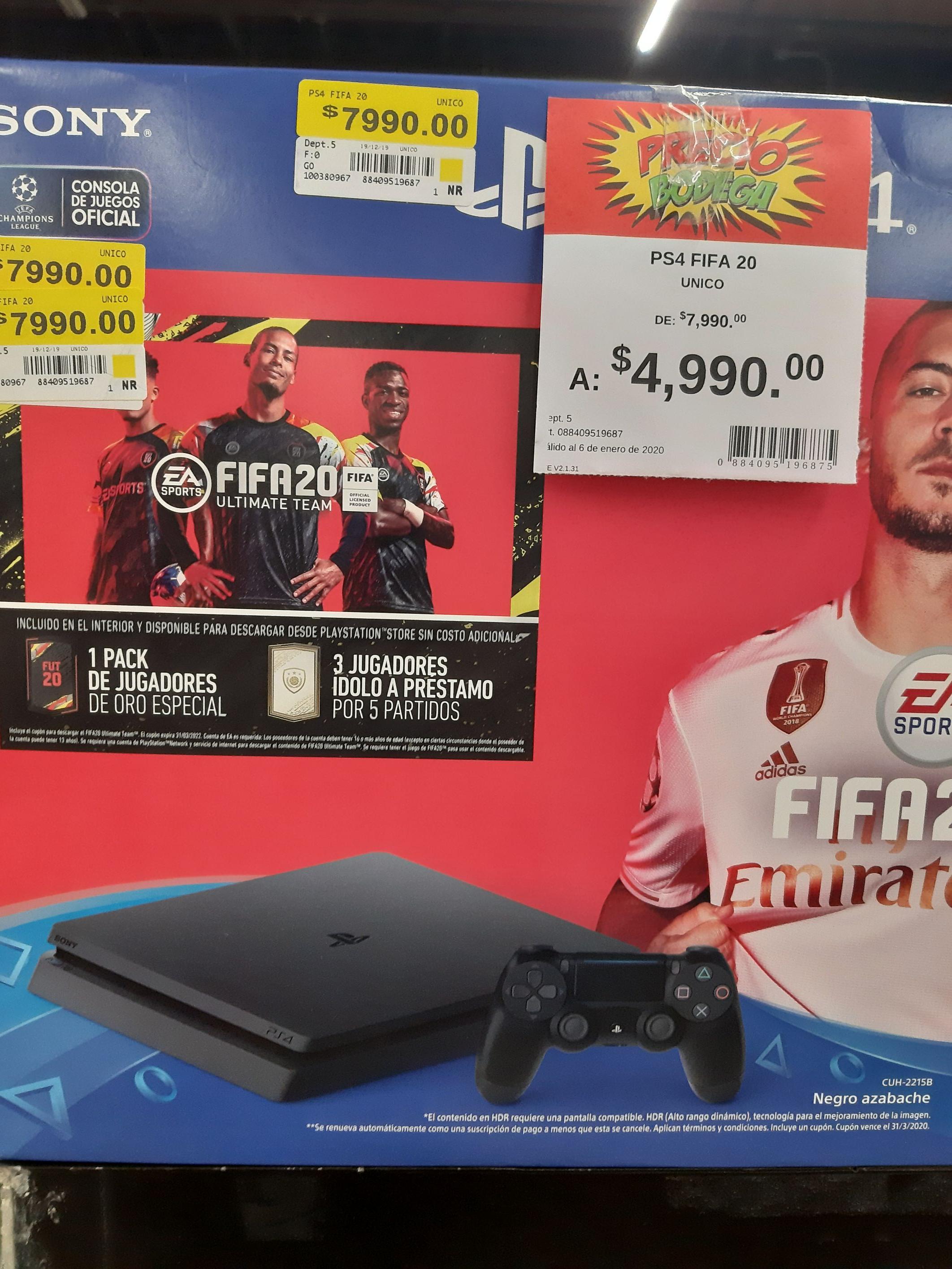 Bodega Aurrera: PlayStation 4 + Fifa