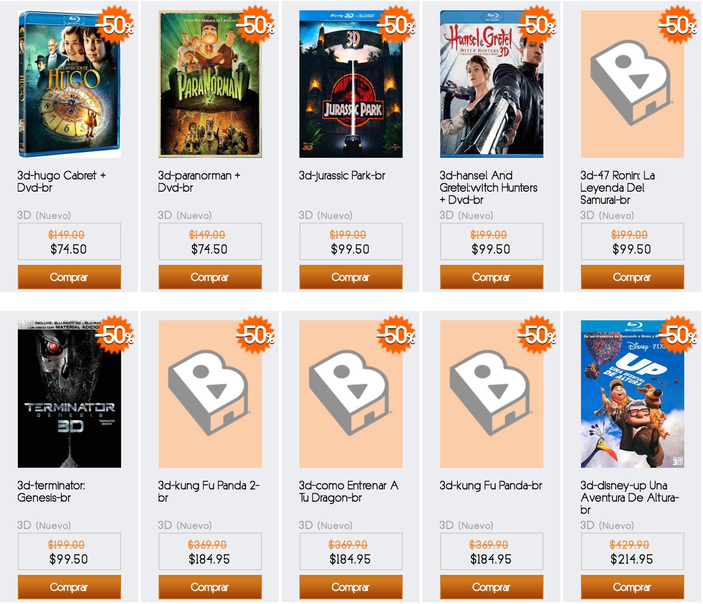 B-Store: Películas 3D en $99.50 o menos