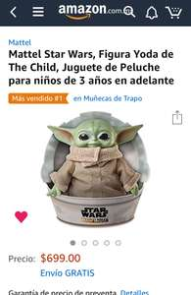 Amazon: The Child (Baby Yoda) el Original de Mattel